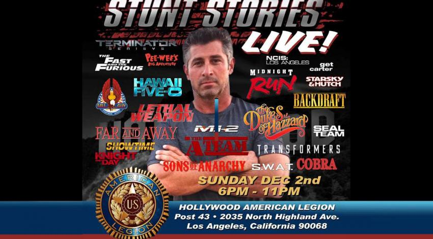 Corey Eubanks' Stunt Stories Returns Dec 2, 2018